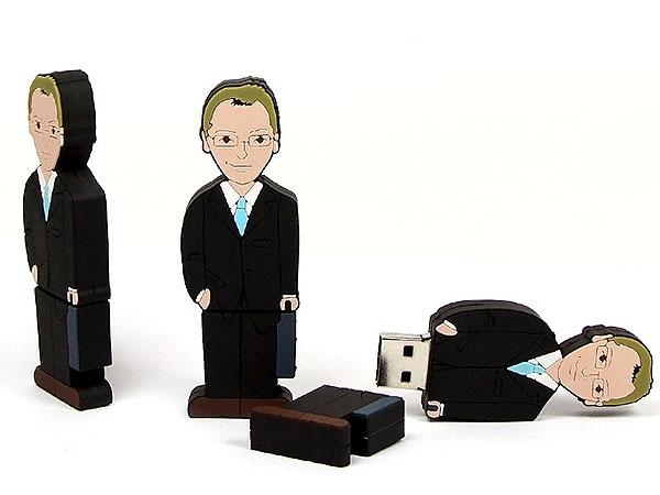 Folks, People, Figur, Geschäftsmann, Banker, Office, Büro, Menschen, Chef, CustomModifizierbar, PVC, USB Menschen, Männchen