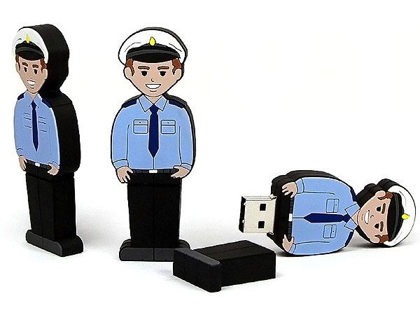 Folks, People, Figur, Polizist, Polizei, Sicherheitsdienst, Menschen, CustomModifizierbar, PVC, USB Menschen, Männchen