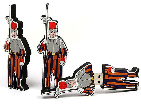 USB - Folks, People, Figur, Schweizer Garde, Wachmann, Sicherheit, Menschen, CustomModifizierbar, PVC, USB Menschen, Männchen
