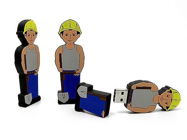 folks, people, Menschen, Figur, Bauarbeiter, Arbeiter, Worker, Handwerker, CustomModifizierbar, PVC, bau, USB Menschen, Männchen