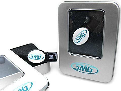 Geschenkbox Metalldose USB-Stick Verpackung, M01 Eckige Metallbox