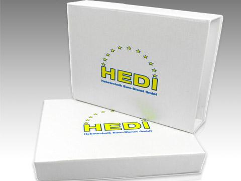 Geschenkbox Verpackung USB-Sticks weiss, K01 Magnetklappbox