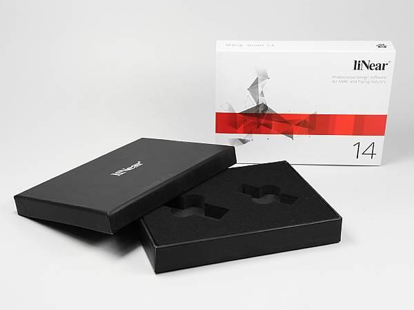 geschenkverpackung bandarole schwarz farbig bedruckt
