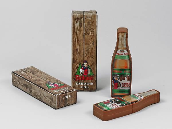 geschenkverpackung braun bedruckt bier doming