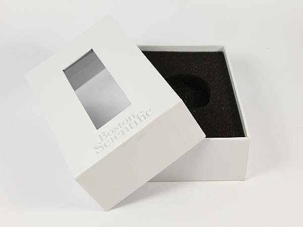 geschenkverpackung deckel fenster weiss logo