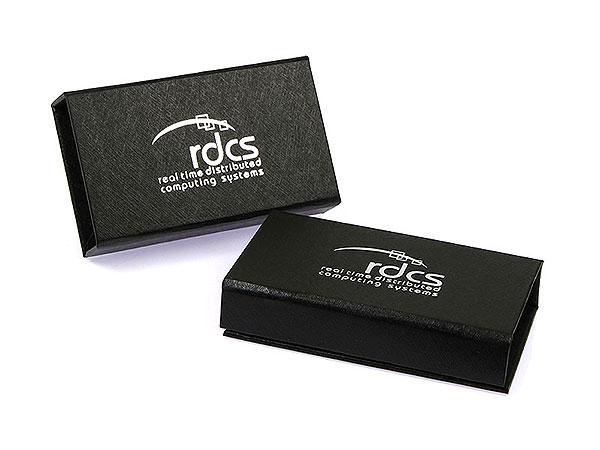 rdcs geschenkbox verpackung box silber schwarz