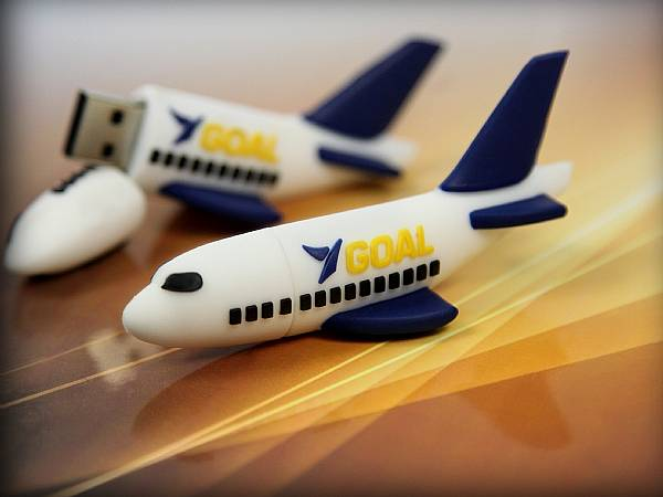 GOAL USB Stick Flugzeug Airplane Logo custom