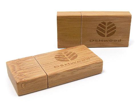 Holz-03 USB-Stick braun gravur DSHwood, Holz.03