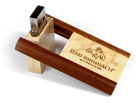 Holz-18 USB-Stick braun gravur Bad-Birnbach, Holz.18
