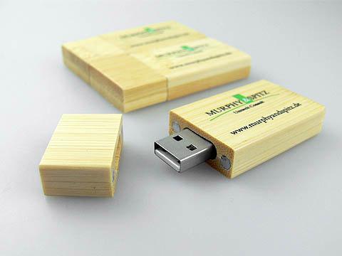 Holz-USB-Stick Umwelt Oeko design Logo, Holz.03