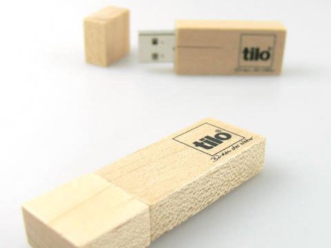 holz usb-stick mit aufdruck edel geschenk, deckel, Holz.01