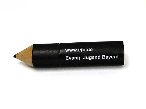 holz usb stick 14 stift schwarz, Holz.14