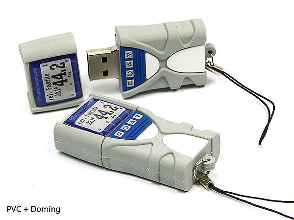 Humimeter, Doming, PVC, Termperatur, Feuchtigkeit, Messgerät, CustomProdukt, PVC
