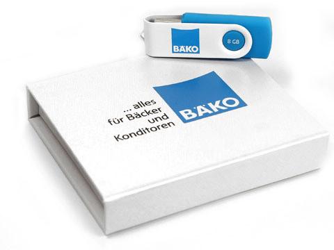 K01 Magnet-Klappbox Verpackung weiss BAEKO, K01 Magnetklappbox