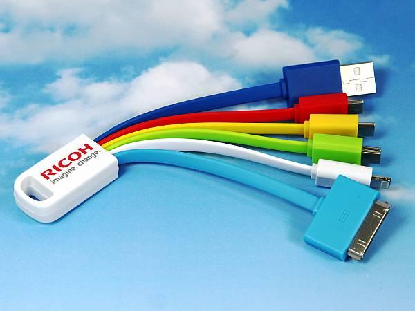 kabeladapter ladekabel farbig bunt smartphone tablet logo
