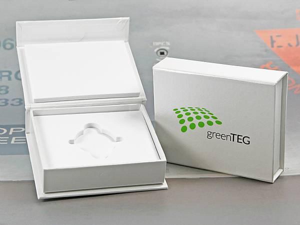 klappbox weiss logo green teg verpackung