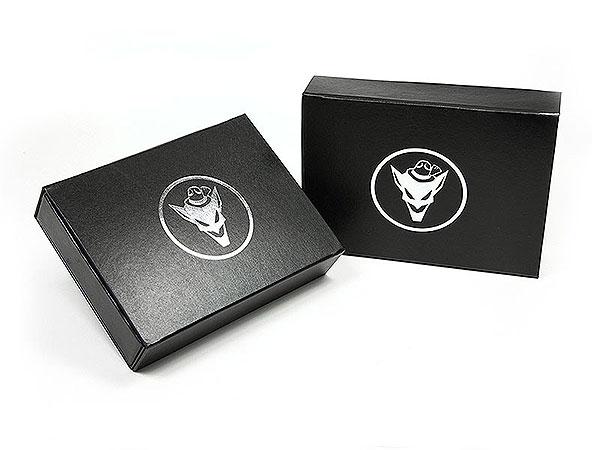 Klappbox Geschenkverpackung schwarz, Individuelle Klappbox