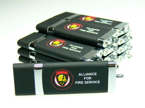 Kunststoff-USB-Stick Feuerwehr Aufdruck, Kunststoff.10