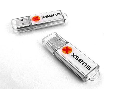 Kunststoff-USB-Stick silber Werbegeschenk, Kunststoff.07
