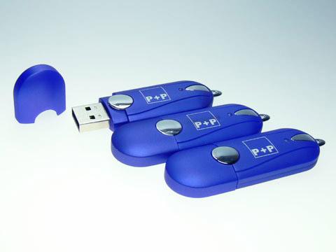 Kunststoff.04 blauer USB-Stick, Kunststoff.04