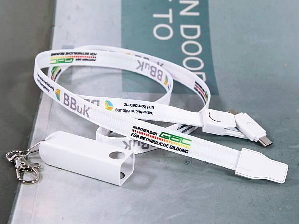 lanyard ladekabel mobil digitaldruck karabiner