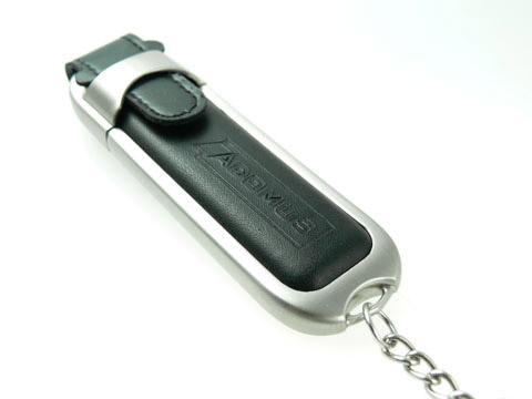 Leder-USB-Stick gepraegt Werbegeschenk, Leder.02