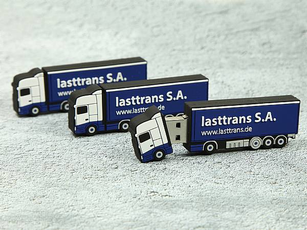 lkw sattelschlepper usb stick truck transport logo sonderform
