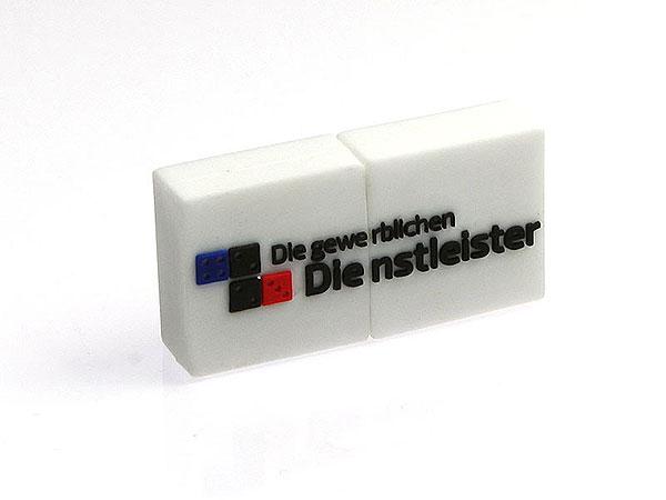 logo rechteckig, pvc, weiß, Domino, CustomLogo, PVC