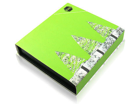 Magnetklappbox m Banderole Werbegeschenk, K01 Magnetklappbox
