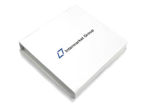 Magnetklappbox mit Firmenlogo weiss, K01 Magnetklappbox