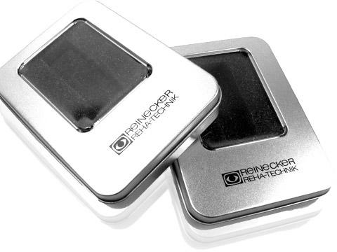 Metall-Box Geschenkbox hochwertig Logoaufdruck, M01 Eckige Metallbox