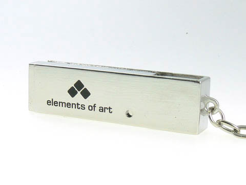 Metall USB-Stick Bügel bedruckt Logo schlüsselanhänger, Metall.05