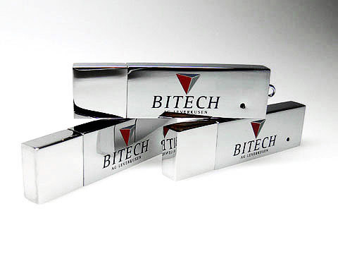 Metall-USB-Stick glaenzend silber Bitech, Metall.04