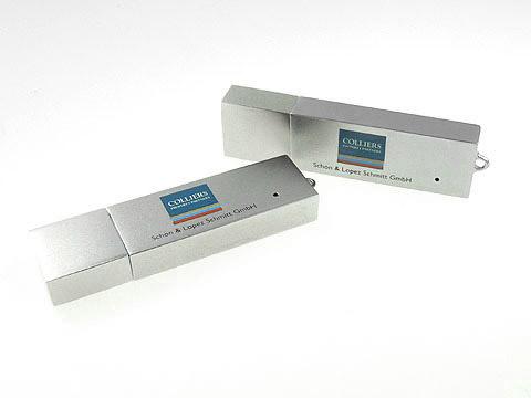 Metall-USB-Stick mehrfarbig bedruckt Logo, Metall.04