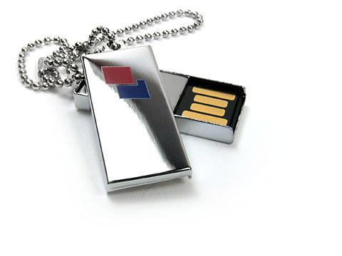 Mini-01 USB-Stick metall silber klein bedruckt, Mini.01