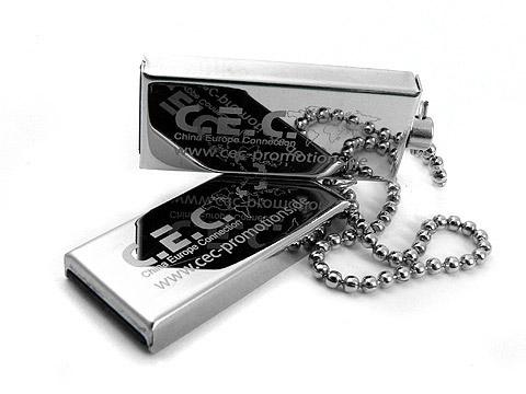 Mini-USB-Stick CEC-Promotions metall graviert, Mini.01