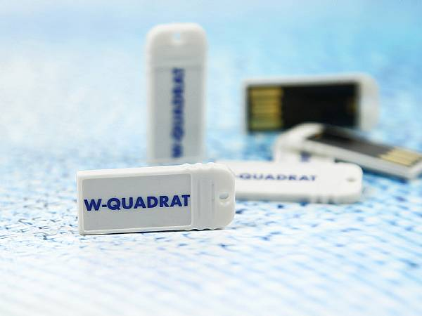 Mini USB Stick weiss logo aufdruck micro