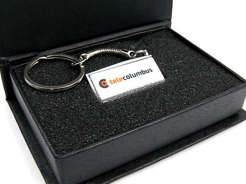Mini USB-Stick-weiß mit Schlüsselring, Mini.13