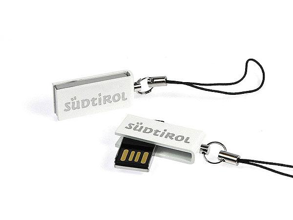 mini USB-Stick Suedtirol weiß, Mini.07
