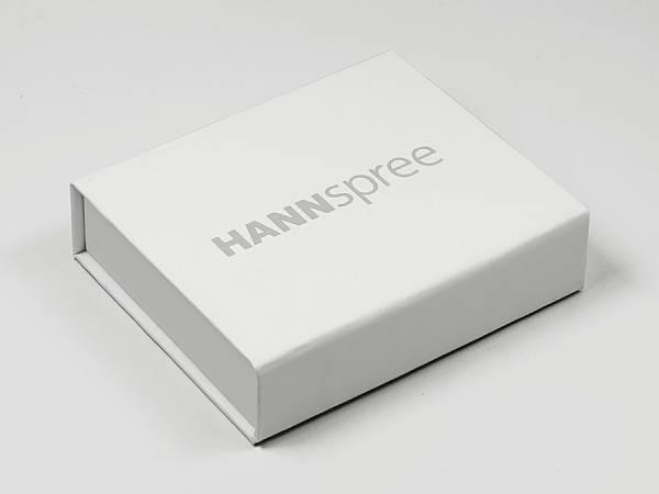 modelabel geschenkverpackung Hannspree magnet geschenkbox