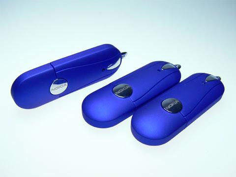 Blauer Nokia USB-Stick, Kunststoff.04