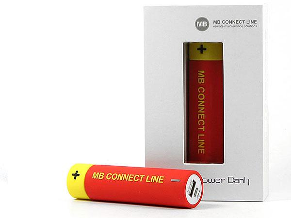 Creative custom powerbank batterie energie energy logo werbeatikel
