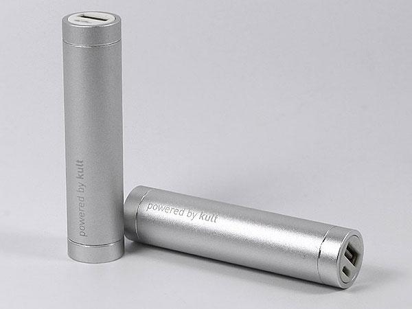 tube, silber, gravur, logo, werbemittel, power-bank