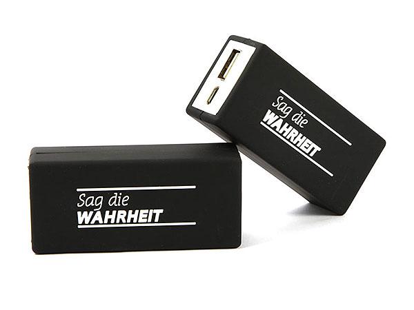 akku batterie schwarz druck 1farbig weiss custom power mobile