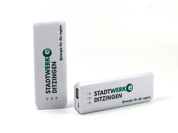 akku batterie weiss aufdruck logo bedruckt smart cubic