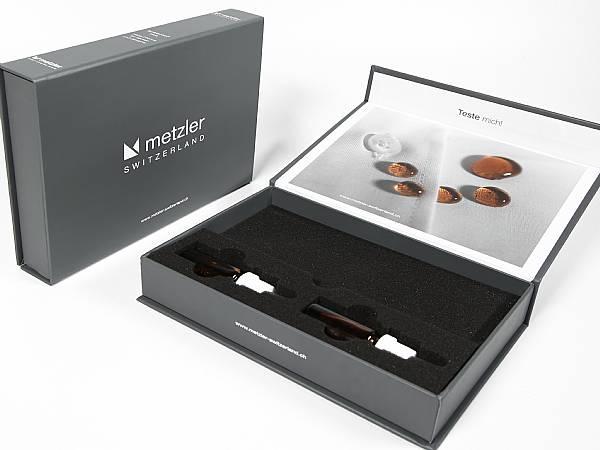 produktmuster verpackung präsentationsbox medizintechnik bedruckt