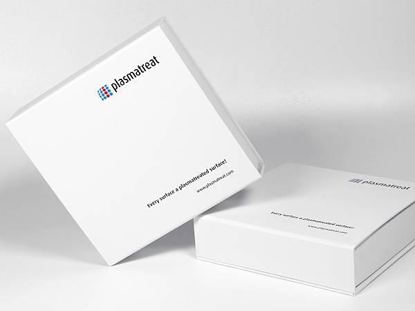 produktverpackung box weiss mit aufdruck logo plasmatreat