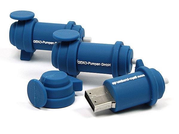 geko, pumpen, blau, CustomProdukt, PVC
