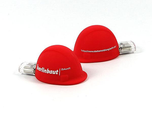 Roter USB Bauhelm, USB-Stick Helm