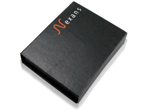 Schlichte Geschenkverpackung Firmenlogo, K01 Magnetklappbox